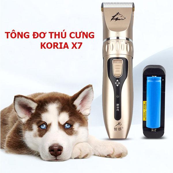Tông đơ cắt lông chó mèo Koria Professional X7